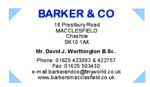 Barker & Co, Macclesfield logo