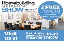 Get your TWO FREE tickets to the South West Homebuilding & Renovating Show at Bath & West Showground, 18 & 19 November