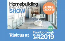 2 FREE TICKETS worth £24* to the South East Homebuilding & Renovating Show from 19 – 20 January 2019.